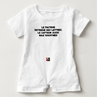 THE FACTOR DISTRIBUTES LETTERS, THE SNEAK TOO BABY ROMPER