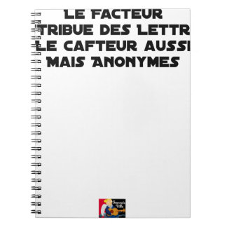 THE FACTOR DISTRIBUTES LETTERS, THE SNEAK TOO NOTEBOOKS