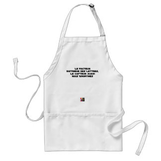 THE FACTOR DISTRIBUTES LETTERS, THE SNEAK TOO STANDARD APRON