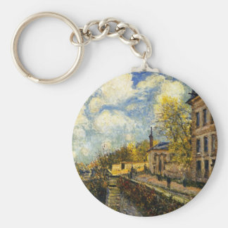 The Factory at Sevres by Alfred Sisley Basic Round Button Keychain