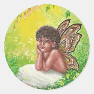 The faeries child classic round sticker