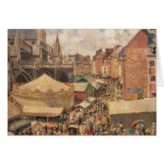 The Fair in Dieppe, Sunny Morning, 1901 Card