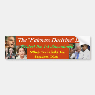 The Fairness Doctrine is Anti-Free Speech Bumper Sticker