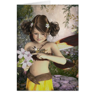 The Fairy and the Dragonfly Birthday Card