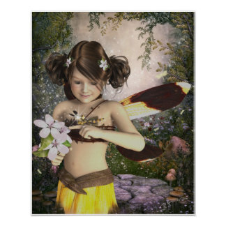 The Fairy and the Dragonfly Poster Print