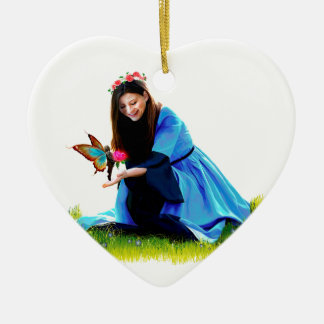 The Fairy and the Princess Ceramic Ornament