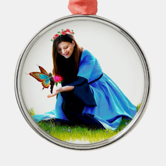 The Fairy and the Princess Metal Ornament