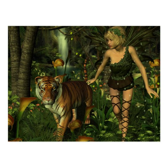 The Fairy and the Tiger Postcard