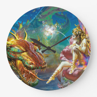 The Fairy & The Dragon Large Clock