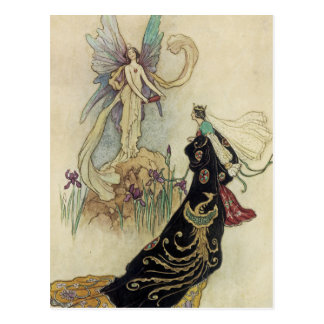 The Fairy There Welcomed Her Majesty Postcard