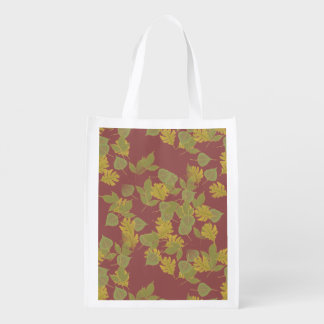 The fall, autumn leaves.customize me. reusable grocery bag