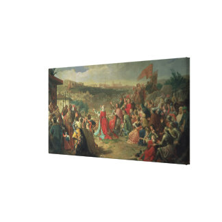 The Fall of Granada in 1492, 1890 Canvas Print
