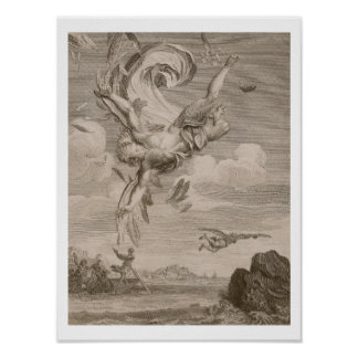 The Fall of Icarus, 1731 (engraving) Poster