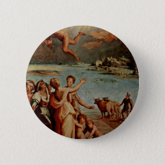 The Fall Of Icarus Oval By Manzuoli Tommaso D'Anto 2 Inch Round Button