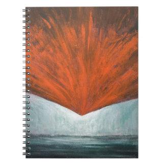 The Fall of Phoenix Bird (abstract surrealism) Spiral Notebook