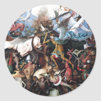 The Fall of the Rebel Angels by Pieter Bruegel Round Sticker