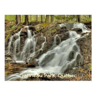 The Falls at Mackenzie King Estate, Gatineau Park. Postcard
