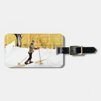 The Falun Yard - little boy on skis Luggage Tag