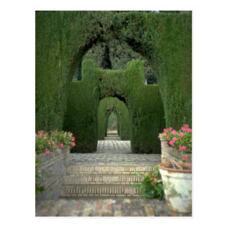 The famed gardens of the Alhambra, Granada, Spain Postcard