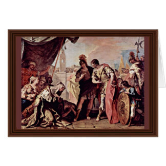 The Family Of Dario Before Alexander The Great Card