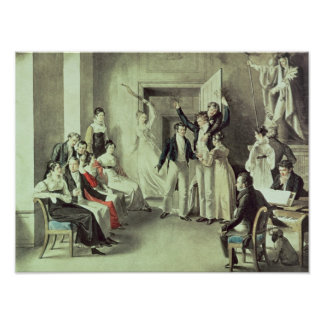 The family of Franz Peter Schubert  playing games Poster