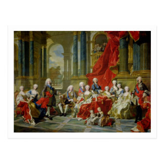 The Family of Philip V, 1743 (oil on canvas) Postcard