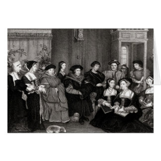 The Family of Thomas More Card
