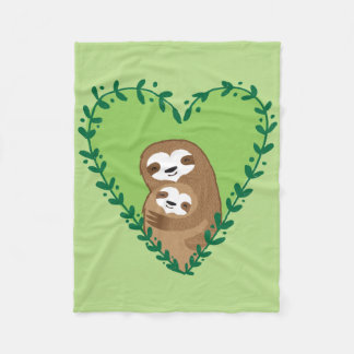 The Family Sloth Fleece Blanket