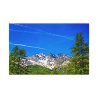 the  famous  mountains  Three Levanne on  canvas