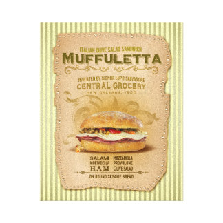 The Famous Muffuletta Sandwich Canvas Print