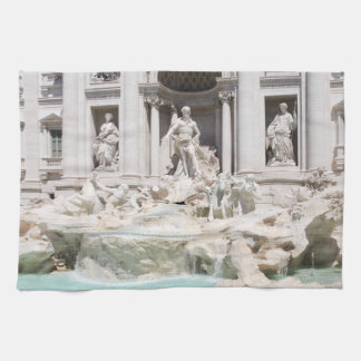 The famous Trevi fountain, Rome, Italy Kitchen Towel