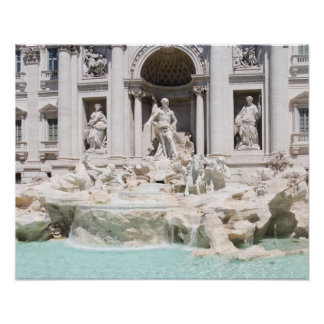 The famous Trevi fountain, Rome, Italy Poster