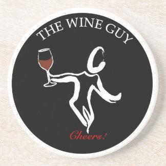 The Famous Wine Guy Logo Coaster