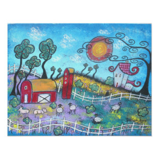 The Fanciful Farm Print