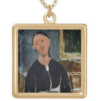 The Fantasist (oil on canvas) Gold Plated Necklace