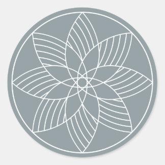 The Fantastic Machine - Round Sticker - Slate