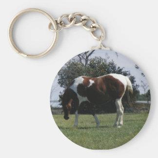 The Farm Basic Round Button Keychain