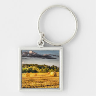 The Farm In Summer Key Chain
