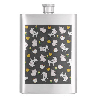 The Farm Pattern Hip Flask