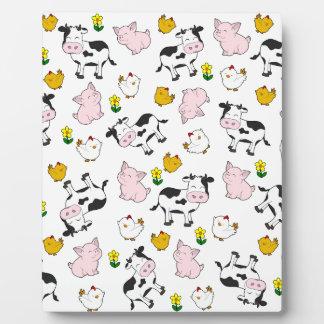 The Farm Pattern Plaque