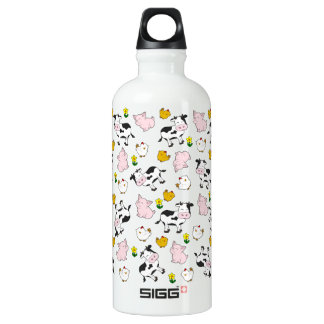 The Farm Pattern Water Bottle