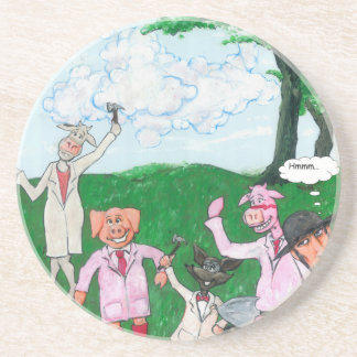 The Farmer Suspects Beverage Coasters