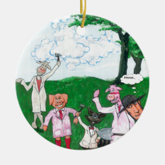The Farmer Suspects Ceramic Ornament
