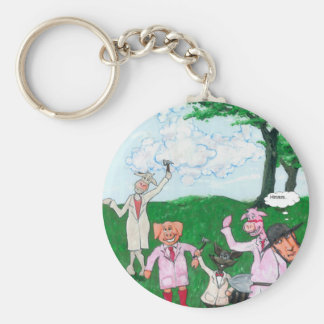 The Farmer Suspects Keychain