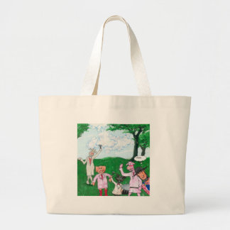 The Farmer Suspects Large Tote Bag