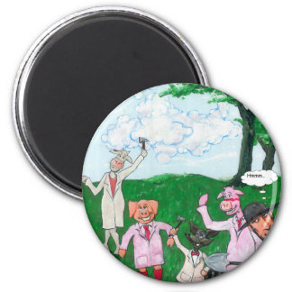 The Farmer Suspects Magnet