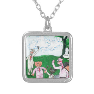 The Farmer Suspects Silver Plated Necklace