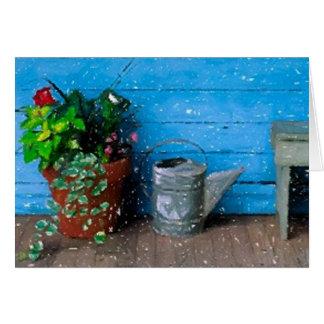 The Farmhouse Porch Blank Greeting Card
