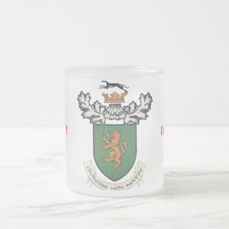 The Farrell Clan of Ireland coat of arms Frosted Glass Coffee Mug