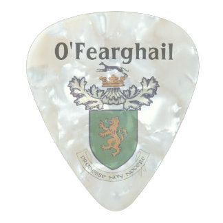 The Farrell Clan of Ireland coat of arms Pearl Celluloid Guitar Pick